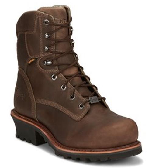 "Chippewa Mens Boots 73211 9"" RADOR FOSSIL"