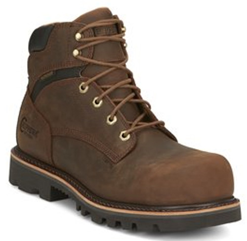 "Chippewa Mens Boots 73221 6"" SADOR HD TAN"
