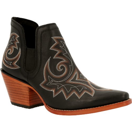 Crush by Durango® Women's Black Western Fashion Bootie DRD0402 RAVEN BLACK