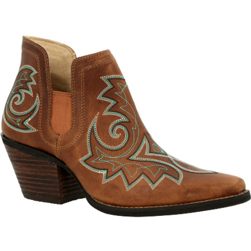 Crush by Durango® Women's Golden Brown Western Fashion Bootie DRD0401 GOLDEN BROWN