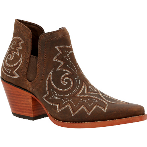 Crush by Durango® Women's Coffee Brown Western Fashion Bootie DRD0399 COFFEE