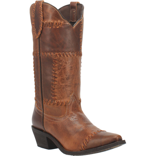 "Laredo Boots Ladies 52332 12"" WHISKEY RUN COGNAC"