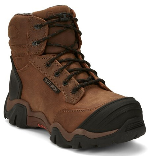 "Chippewa Ladies Boots L50003 6"" CROSS TERRAIN BROWN W/P NANO COMP TOE"