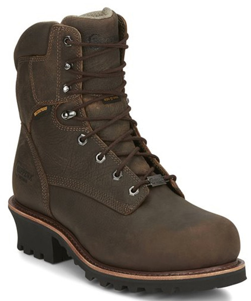 "Chippewa Mens Boots 73213 9"" BOLVILLE EARTHQUAKE BROWN"