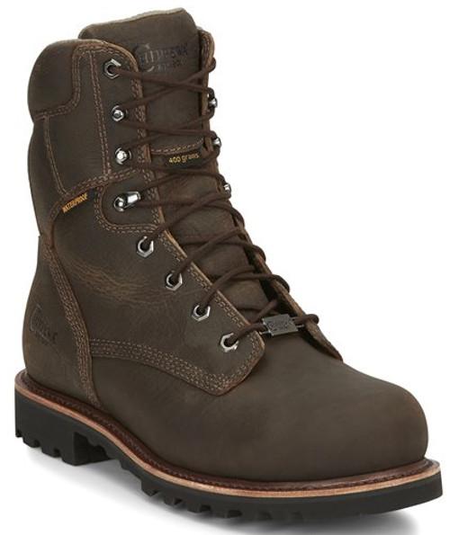 "Chippewa Mens Boots 73208 8"" BOLVILLE EARTHQUAKE BROWN"
