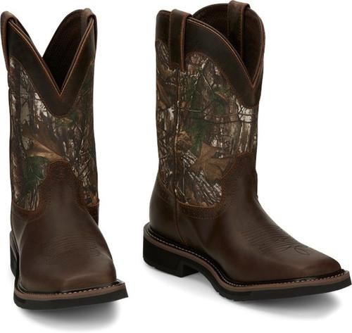 "Justin Mens Boots SE4676 11"" Trekker Chocolate Brown"