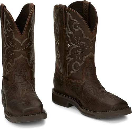 """Justin Mens Boots SE4313 11"""" Amarillo Safety Toe Aged Brown"""