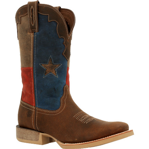 Durango® Rebel ProTexas Flag Western Boot DDB0333 DARK CHESTNUT AND TEXAS FLAG