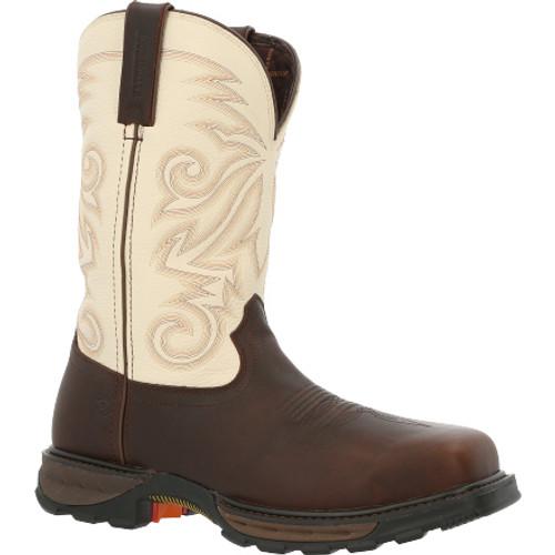 Durango® Maverick XPComposite Toe Waterproof Western Work Boot DDB0330 CHOCOLATE AND WHITE