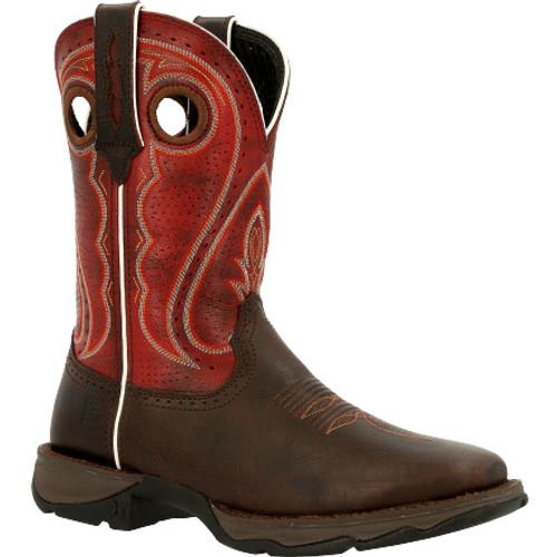 Lady Rebel by Durango® Women's Crimson Western Boot DRD0408 DARK CHESTNUT AND CRIMSON