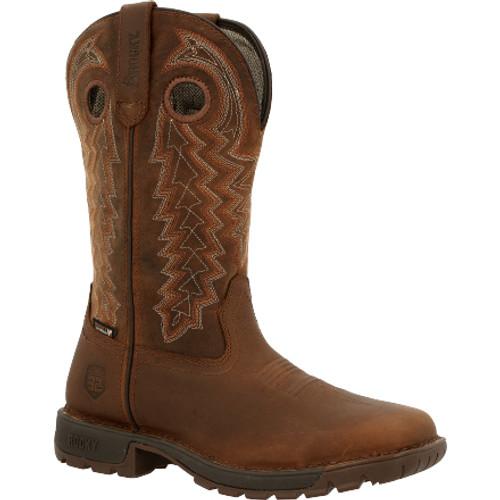Rocky Legacy 32 Women's Steel Toe Waterproof Western Boot RKW0344 DARK BROWN