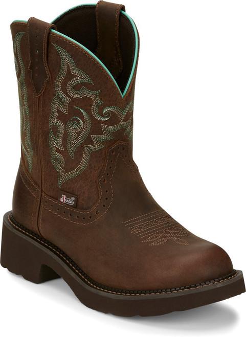 "Justin Ladies Boots GY9606 8"" Gemma"
