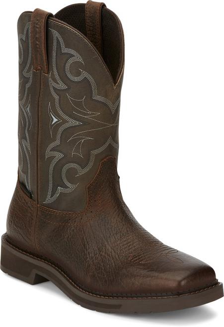 "Justin Mens Boots SE4312 11"" Amarillo SLATE WATER BUFFALO"