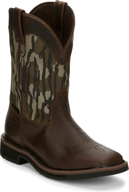 "Justin Mens Boots SE4420 11"" Trekker MOSSY OAK BOTTOMLAND CAMO"