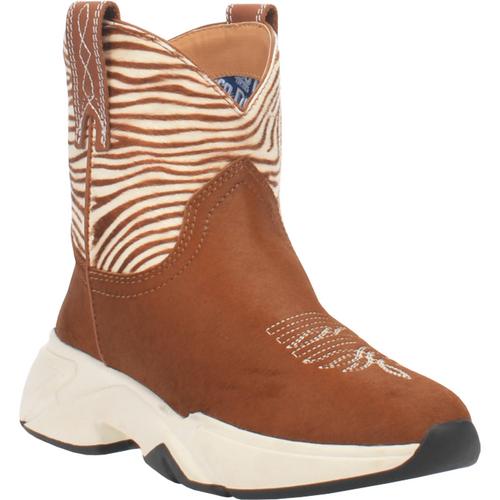 "Dingo Boots Ladies DI 389 6"" #SAFARI Tan Zebra"