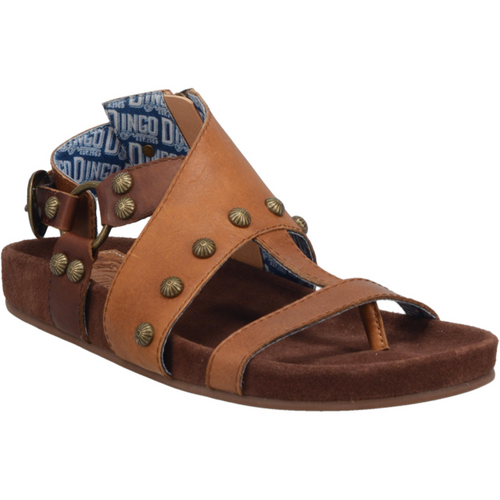 Dingo Sandals Ladies DI 143 CLOG SAGE BRUSH Camel/Brown