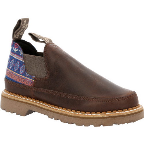 Georgia Boot Women's Brown and Blue Romeo Shoe GB00460 BROWN