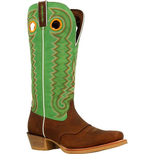 Durango® Mens Rebel Pro Golden Brown Buckaroo Western Saddle Boot DDB0338 GOLDEN BROWN KELLY GREEN