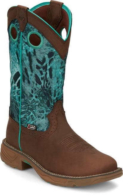 "Justin Ladies Boots SE4355 11"" Rush Brown"