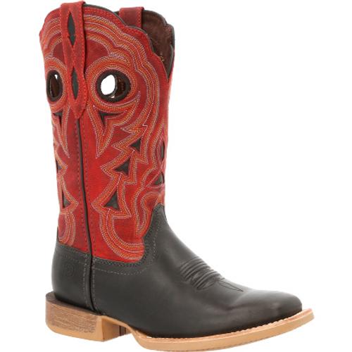 Durango® Lady Rebel Pro Women's Black & Crimson Western Boot DRD0421 BLACK RED