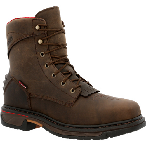 Rocky Mens Iron Skull Composite Waterproof Lacer Western Boot RKW0361 BROWN