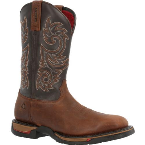 "Rocky Mens Long Range 11"" Waterproof Western Boot RKW0359 COFFEE"