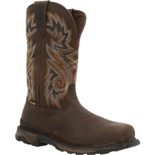 Rocky Mens Carbon 6 Carbon Toe Waterproof Western Boot RKW0353 BROWN