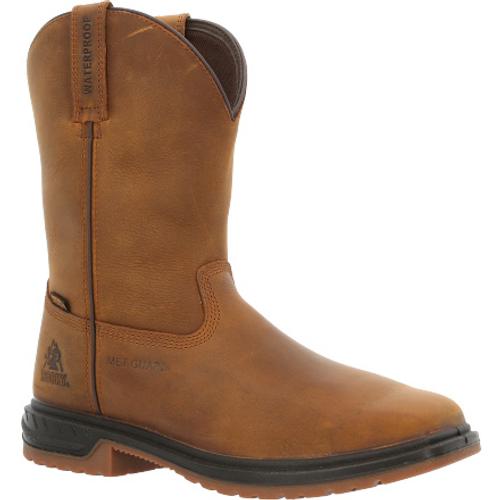 Rocky Mens Worksmart Met Guard Composite Toe Waterproof Western Boot RKW0360 BROWN