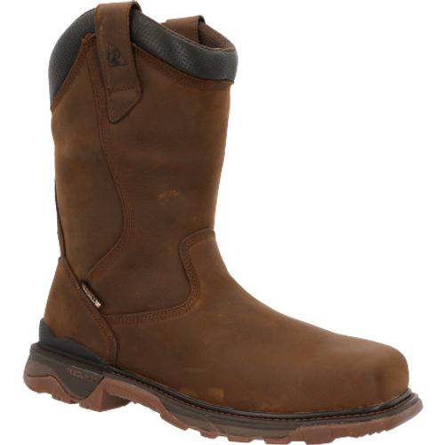 Rocky Mens Carbon 6 Carbon Toe Waterproof Western Work Boot RKW0354 BROWN