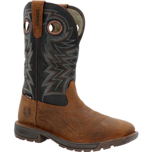 Rocky Mens Legacy 32 Steel Toe Waterproof Western Boot RKW0356 BROWN
