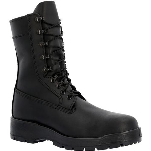 "Rocky Mens Navy Inspired 9"" Steel Toe Boot 808 BLACK"