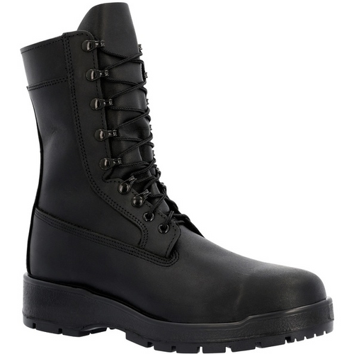 "Rocky Women's Navy Inspired 9"" Steel Toe Boot 808F BLACK"