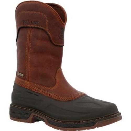 Georgia Boot Mens Carbo-Tec LTR Steel Toe Waterproof Pull On Boot GB00471 BROWN