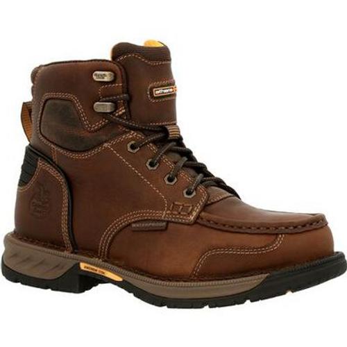 Georgia Boot Mens Athens 360 Waterproof Steel Toe Work Boot GB00468 BROWN