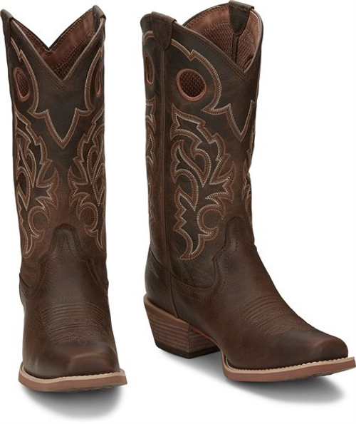 """Justin Mens Boots 7310 13"""" Puncher Brown"""
