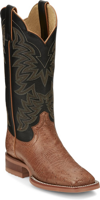 Justin Ladies Boots JE701 Ralston Cognac Smooth Ostrich
