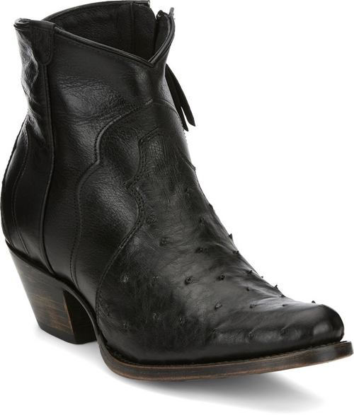 Justin Ladies Boots RM110 Chord Black Full Quill