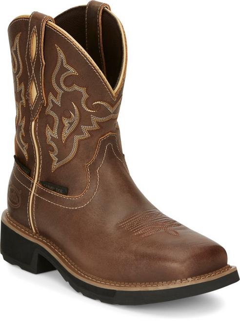 "Justin Ladies Boots GY9978 8"" Jalena Nano Comp Toe Brown"