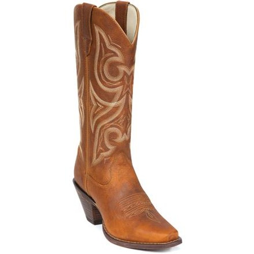Crush by Durango Women's Tan Jealousy Western Boot 3514 DISTRESSED COGNAC