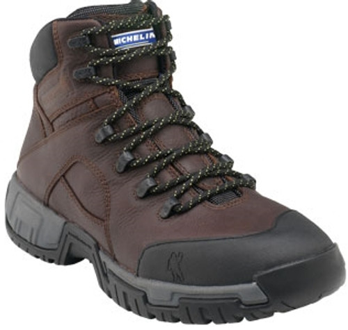 Michelin Men HydroEdge Steel Toe Waterproof Boot XHY662 Dk Brown