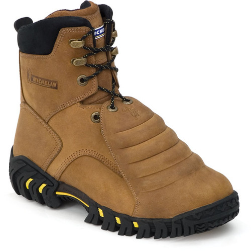 Michelin Men Sledge Steel Toe Metatarsal Work Boots XPX781 Rough Brown