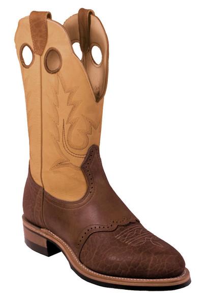 Boulet Mens Western Boots Apache Whaler Buckskin 2044