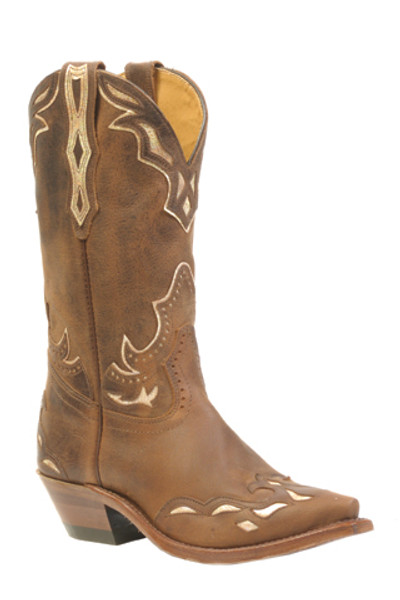 Boulet Ladies Western Boots Selvaggio Wood Pitoncino Cream