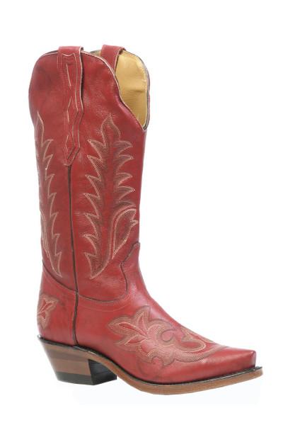 Boulet Ladies Western Boots Deerlite Red Boots 3636