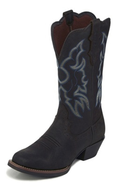 "Justin Ladies Boots L2730 12"" Brandy Dark Brown"