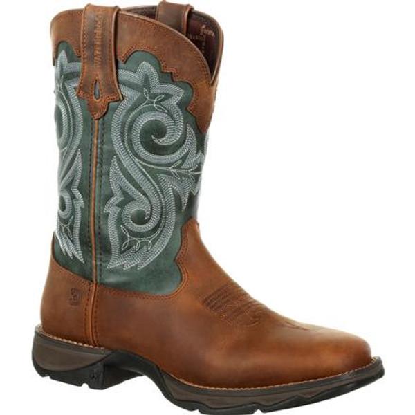 Lady Rebel by Durango Women's Waterproof Western Boot 0312 BROWN EVERGREEN