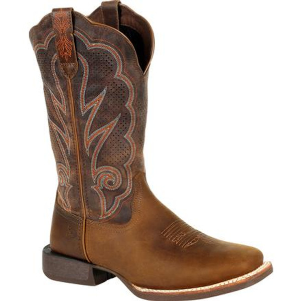 Durango® Lady Rebel Pro Women's Cognac Ventilated Western Boot DRD0376 DISTRESSED COGNAC