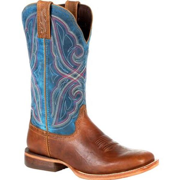 Durango® Arena Pro Women's Dark Bay Western Boot DRD0381 DARK BAY AND CARIBBEAN BLUE