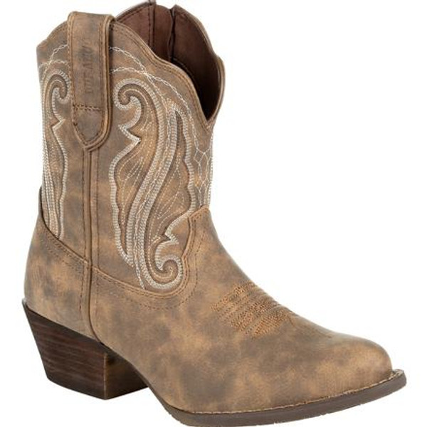 Crush by Durango® Women's Distressed Shortie Western Boot DRD0372 DRIFTWOOD
