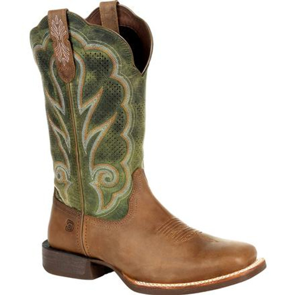 Durango® Lady Rebel Pro Women's Ventilated Olive Western Boot DRD0378 DUSTY BROWN AND OLIVE GREEN